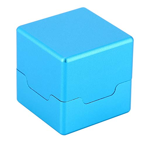 Alomejor Mini Queue Tip Kreidehalter Billard Queue Kreidehalter Magnetic Kreidehalter Kreide Carrier Case(Blau)