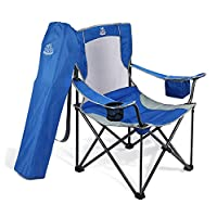 DEERFAMY Lawn Chairs with Cooler Side Pocket & Carrying Bag