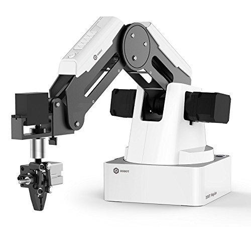 DOBOT Magician, Robot Educativo Programable, Brazo Robótico de 4 ejes con Impresora 3D, Grabadora Láser, Portalápices, Ventosa, Cabezales de Agarre K12 o STEAM Education – Versión educativa