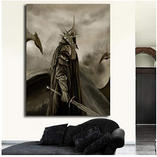 A&D Hexenkönig von Angmar Der Herr der Ringe Leinwand Poster Drucke Wandkunst Gemälde Dekoratives Bild Moderne Wohnkultur HD -60x80cm Kein Rahmen