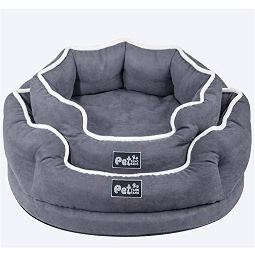 OFDGDBN Memory Cotton Removable Washable Rivet Pet Nest Pet Mattress Dog Nest Cat Nest Seasons Available 1(gray) large_dogs