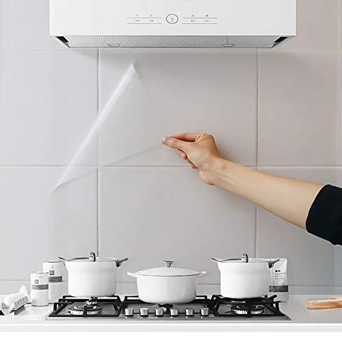 3 pegatinas de pared a prueba de aceite, para cocina, comedor, encimera, de madera, transparente y resistente al calor, resistente al calor, adhesivo para mesa