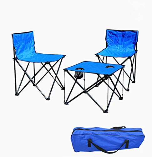 Folding Picnic Chairs Table Beverage for Beach Patio Pool Park Outdoor Portable Camping Chair Table