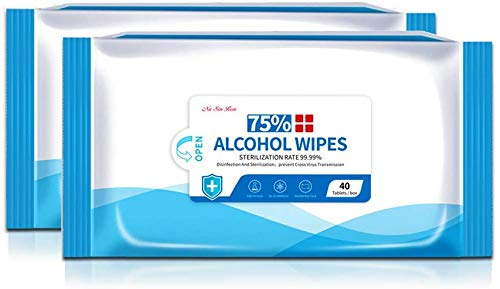 Cleansing Wipes (2 Packs,80Wipes),Large Wet Wipes(5.9'x7.9')