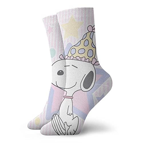 Snoopy Calcetines para hombres y mujeres cuatro estaciones, cómodos, transpirables, resistentes al desgaste, deportes, ocio y fitness