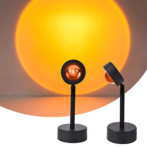 Sunset Lamp,Sunset Proyección LED Proyección, Rotación 180°, Romántico Visual, Proyector de puesta de sol, USB, lámpara de pie moderna, lámpara de noche para salón