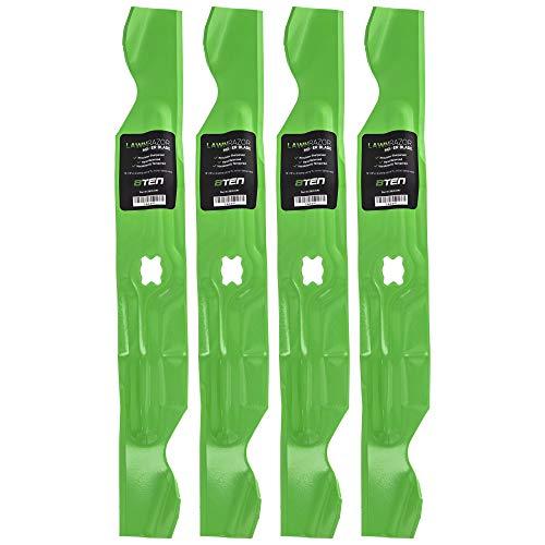 8TEN LawnRAZOR Hi Lift Blade for MTD Cub Cadet Troy Bilt 33 inch Deck Walk Behind 742-04154 942-04154A 4 Pack