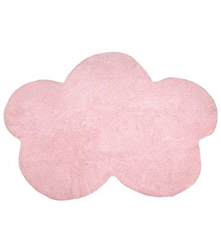 Happy Decor Kids -Alfombra Lavable Cloud 100% Algodón Natural -Rosa- 160x120 cm