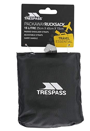 41I4LwBA38L - Trespass Reverse Packaway Mochila, Unisex Adulto
