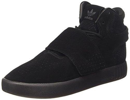 Adidas Tubular Invader Strap, Herren Ein hoher Ansatz, Schwarz (Core Black/core Black/utility Black), 44 EU