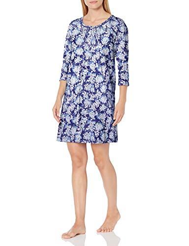 Carole Hochman Women's 3/4 Sleeve Sleepshirt, 402, S