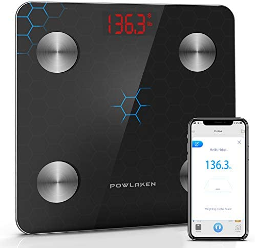 Powlaken Body Fat Scale Smart BMI Scale Digital Bathroom Wireless Weight Scale Body Composition product image