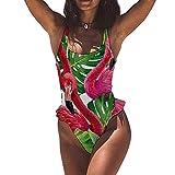 Canapa Palm Flamingo Donna Un Pezzi Costumi Da Bagno Costumi Da Bagno Costumi Da Bagno Tankinis bianco-Style1 52