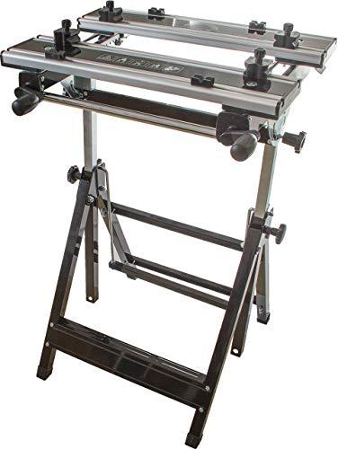 Profi Werkbank, stabiles Stahlgestell mit Arbeitsfläche aus Aluminium, verstellbare Höhe und Neigung, große Arbeitsfläche, zusammenklappbarer Werktisch