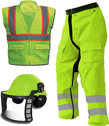 Ahlborn Forester Ultimate Chainsaw Kit, Includes Chainsaw Chaps, Forestry Helmet, Chainsaw Vest (Small-X Large)