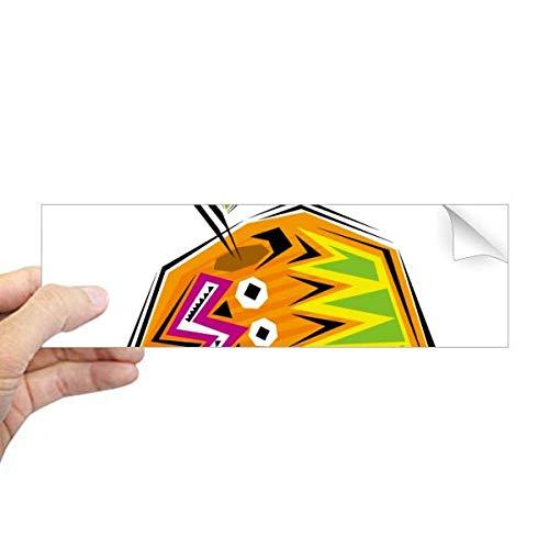 DIYthinker Geel Voedsel Mexicon Cultuur Element Illustratie Rechthoek Bumper Sticker Notebook Window Decal