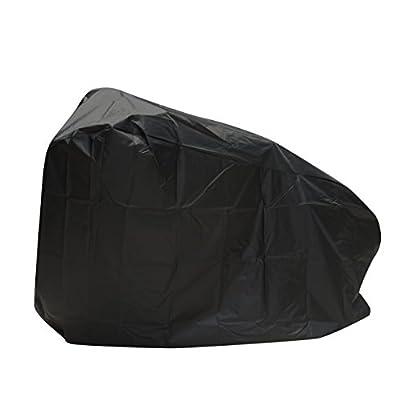 ATCG Bike Cover 190T Nylon Waterproof Bicycle Cover for Mountain Bike, Road Bike Outdoor Storage, L (Black)