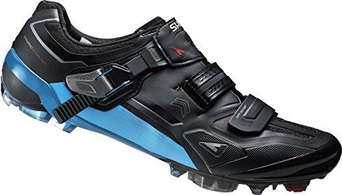 SHIMANO Fahrradschuhe MTB Radschuhe SH-XC90L GR. 47 SPD Klett-/Ratschenv. CF Zapatillas de Ciclismo, Unisex Adulto, Negro/Azul
