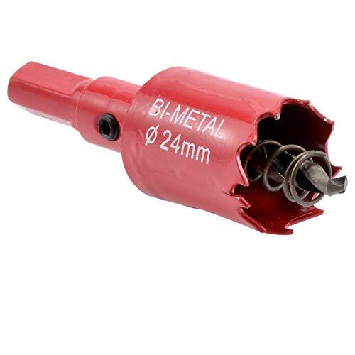 kATUR 24mm Speed Bi-Metal Hole Saw, Cornhole Board Drill Bit with Positive Rake Teeth for Soft Metal, Drywall, Plastic, Wood, Fiberboard (24mm)