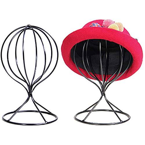 Metall Hutständer, Huthalter Perückenständer Perückenkopf Hüte Mütze Perücken Display Ständer Halter