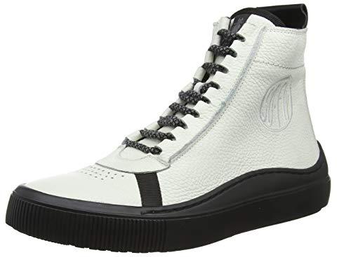 Fly London Sope385Fly, Zapatillas Altas Hombre, Blanco (White/Black (Black Sole) 003), 40 Eu