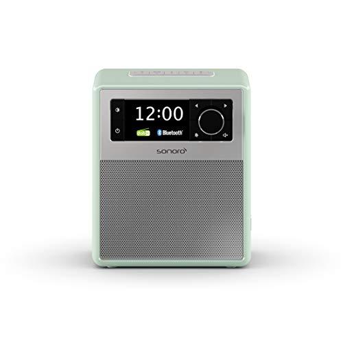 sonoro Easy Digitalradio mit Bluetooth (tragbar, UKW/FM, DAB Plus, Wecker, Akku/Batterie/Netzbetrieb) Pastellgrün 2020