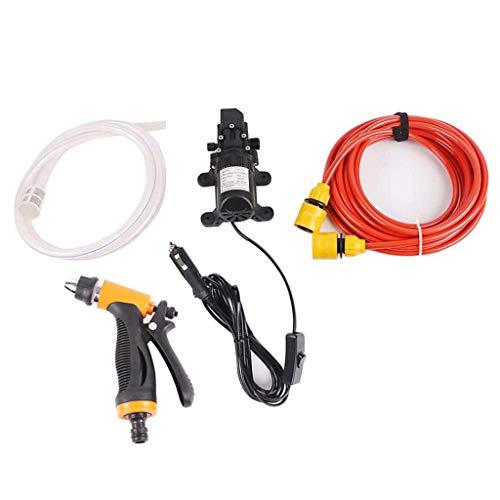Idropulitrice elettrica portatile ad alta pressione, 12 V, 100 W, 145 psi, pompa elettrica per auto, casa, giardino, veicoli, progetti