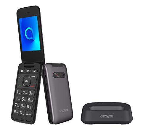 Alcatel 3026 - Teléfono móvil de fácil uso con tapa y bas