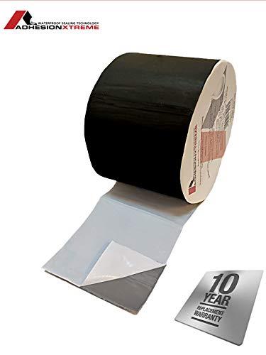 AX©*PREMIUM*10m*200mm Schwarzes Reparaturband Klebeband Dichtung Abdichtband für Teichfolien, EPDM, PVC, Bitumen, Flicken wasserdicht, selbstklebend (Schwarz)