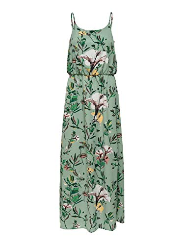 ONLY Damen Onlwinner Sl Maxidress Noos Wvn Casual Dress, Granite Green, 36 EU