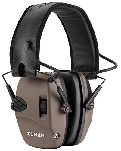 ZOHAN EM054 Electronic Hearing Protection for Shooting with Sound Amplification Noise Reduction,...