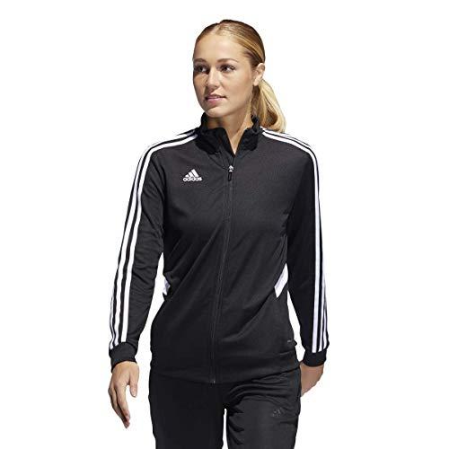 adidas Damen Tiro Trainingsjacke, Damen, Jacke, Alphaskin Tiro Training Jacket, schwarz / weiß, Medium