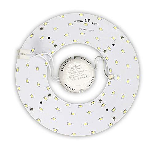 Vetrineinrete Circolina corona led 5730 modulo circolare di ricambio neon per plafoniere luce calda 3000 k 12 18 24 watt 265v ultra luminoso E60 (24)