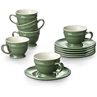6-Pack Dowan Espresso Cups and Saucers Sets