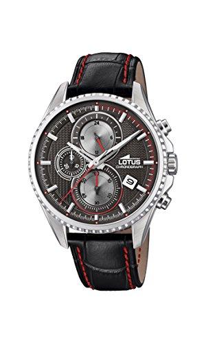 Lotus Watches Reloj Cronógrafo para Hombre de Cuarzo con Correa en Cuero 18527/4
