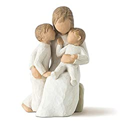 Sentiment: Quietly encircled by love written on enclosure card 5 Inch hand-painted resin figure; ready to display on a shelf, table or mantel; to clean, dust with soft brush or cloth A gift to celebrate new beginnings, new babies, new families and th...