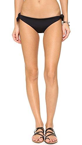 Mara Hoffman Women's Tie Side Bikini Bottom Swimsuit, Black, Small