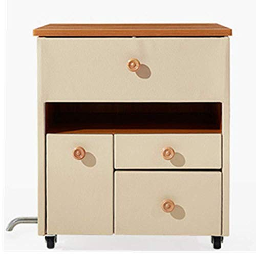 Stylish Simplicity Side Table Modern Mini Bedroom White Minimalist Leather Small Bedside Table Storage Cabinet for Bedroom, DTTX001, Beige, 47cmx41cmx54cm