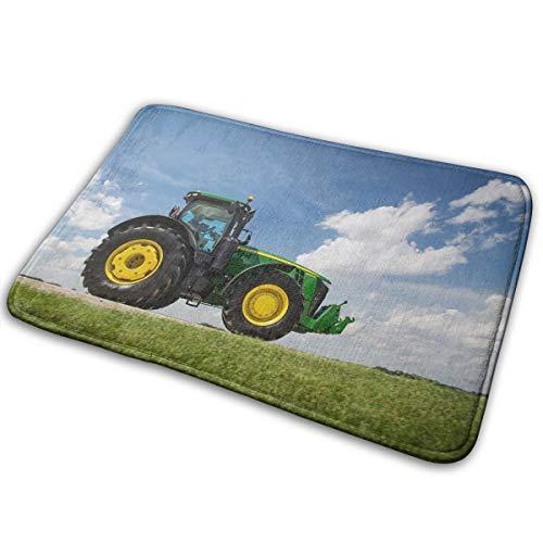 John_Deere_8370r_Tractor Memory Foam Bath Mats Non-Slip Bathroom Rugs Water Absorbent Fast Dry Soft Comfortable Stylish 23.6x15.7inch