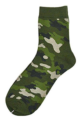 BLANCHO BEDDING Lot de 2 Creative Camouflage Chaussettes en Coton Chaussettes pour Hommes Chauss #01