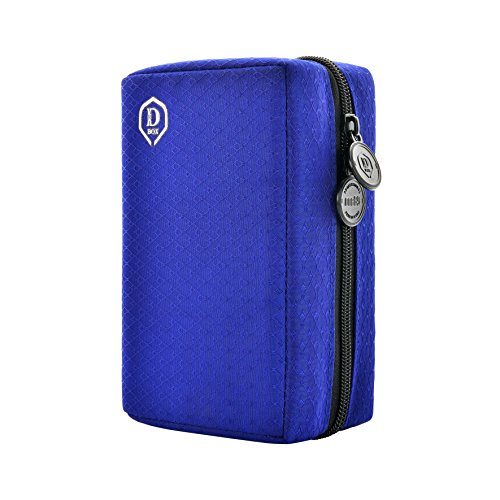 ONE80 Double Darttasche für Darts Dart Wallet Dart Cases (Blau)