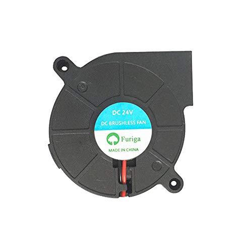 HzdaDeve Ventola 5015, 24 V, 50 x 50 x 15 mm, estrusore per stampante 3D, cavo da 1 m