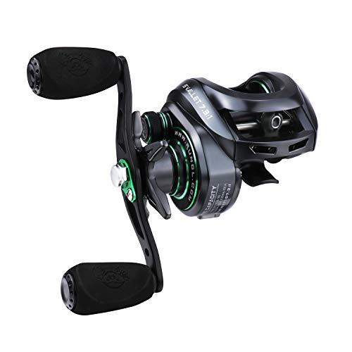 RUNCL Baitcasting Reels Svallet, Baitcaster Reels 10+1BB Fishing Reel - 7.3:1 Gear Ratio, 17.64LB Carbon Fiber Drag, 10-Level Magnet Braking System for Bass Fishing Freshwater(Right Handed)