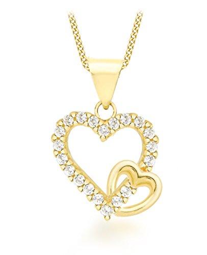 Carissima Gold Collar de mujer con oro amarillo con circonita 0.4 ct