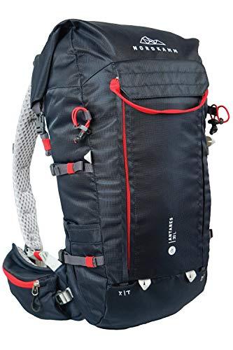 NORDKAMM – Wander-Rucksack Damen u. Herren, 30l, 40 l, ergonomisch, Skitour, Klettersteig, rot, blau