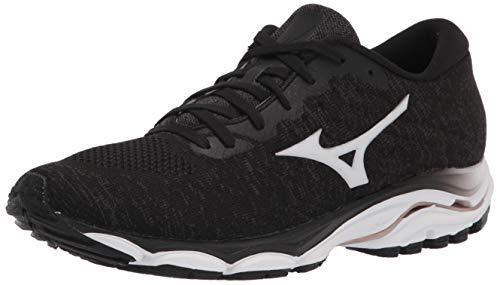 Mizuno Women's Wave Inspire 16 WAVEKNIT Running Shoe, Blackwhite, 8