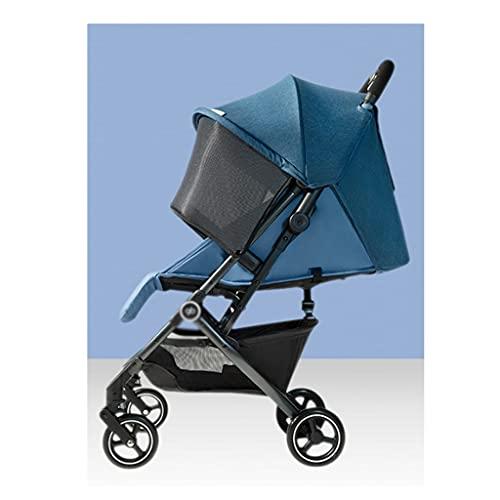 jiji sillas de Paseo Cochecito, cochecitos de bebé Paraguas Ligero, Puede Sentarse acostarse Doble Doble Portátil Coche de Cinco Punto Cinturón de Seguridad Cinta Infantil Cochecito de bebé