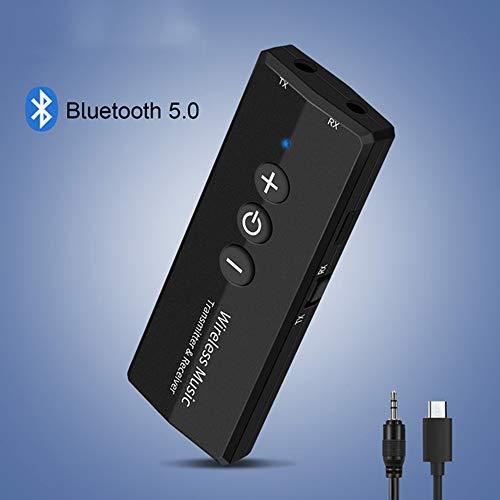 HANYF Bluetooth Transmisor, El Audio del Receptor/Transmisor, V5.0 EDR Inalámbrica Dongle Audio, Jack De 3,5 Mm De Asistencia 3 En 1 En Casa TV/Auricular/PC/Adaptador De Coche