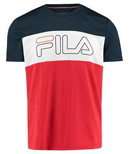 Fila Herren, Reggie T-Shirt Rot, Dunkelblau, M Oberbekleidung, M