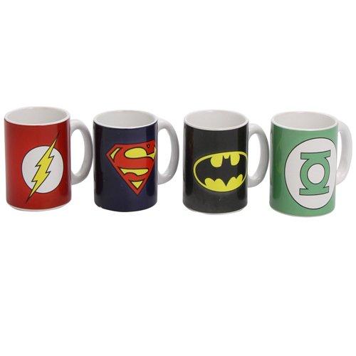 3058 - Taza Logos DC Comics Set Café (4 Tazas)